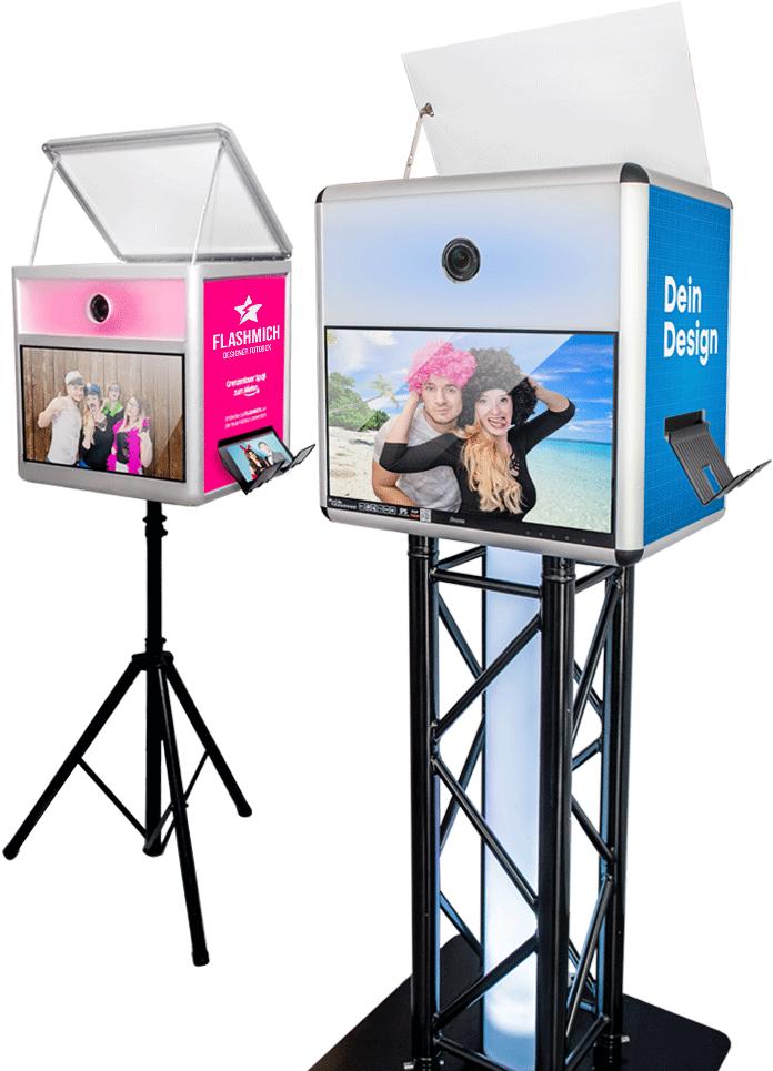 Zwei Fotoboxen